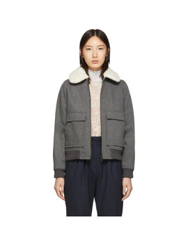 Grey Wool Snowbird Bomber Jacket by A.P.C.