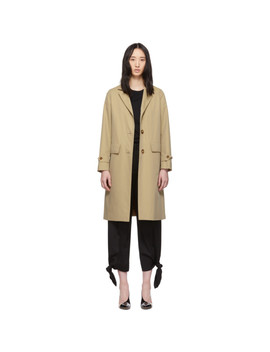 Beige Cotton Gabardine Car Coat by Burberry