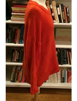 Zara Orange Knit Sweater Oversized Wool Mohair Wrap Size Small Will Fit Large by Zara Knit