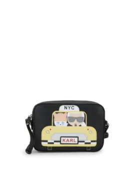 Maybelle Taxi Leather Crossbody Bag by Karl Lagerfeld Paris