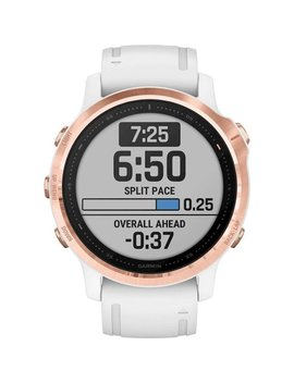 Fēnix 6 S Pro Smartwatch 42mm Fiber Reinforced Polymer   Rose Gold Tone With White Silicone Band by Garmin