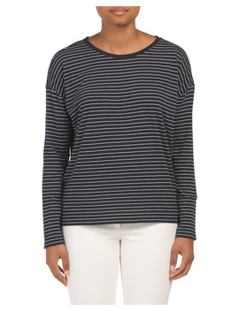 Pima Cotton Long Sleeve Top by Tj Maxx