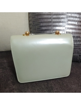 Vintage Mint Green Pleather Purse by Vintage