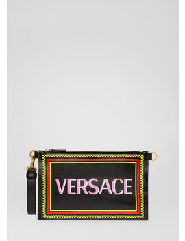 90s Vintage Logo Pouch by Versace