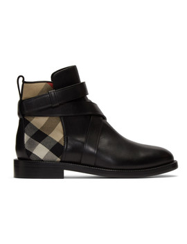 Black House Check Pryle Boots by Burberry