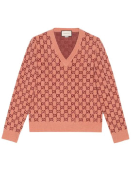 Intarsien Pullover Mit Gg Muster by Gucci