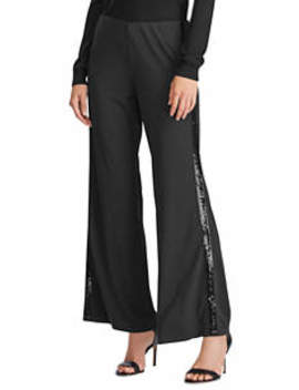 Sequined Tuxedo Stripe Pants by Lauren Ralph Lauren