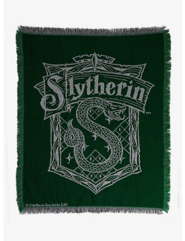 Harry Potter Slytherin Tapestry Throw Blanket   Box Lunch Exclusive by Box Lunch