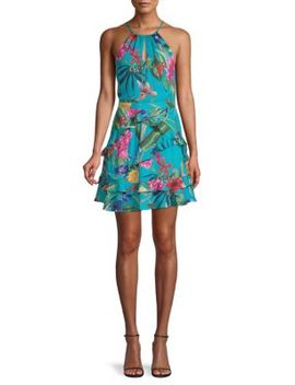 Ruffled Floral Fit &Flare Dress by Parker
