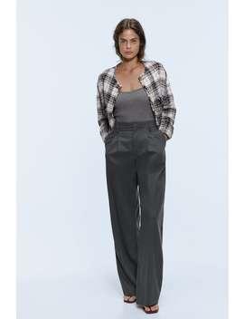 Wide Leg Trousers With Pleats by Zara