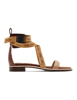 Burgundy & Orange Veronica Sandals by ChloÉ