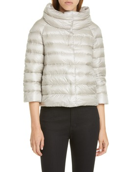 Quilted Down Crop Puffer Jacket by Herno