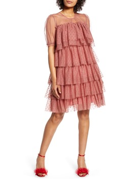X Atlantic Pacific Tiered Mesh Dress by Halogen®