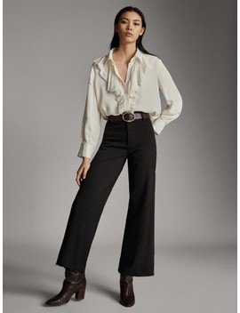 PantalÓn Vaquero High Rise Culotte Fit by Massimo Dutti