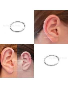 8mm 22 Gauge Cartilage Earring Helix Ring Hoop, Simple Cartilage Conch Hoop Septum/Nose/Cartilage/Helix/Tragus Ring Hoop Nose Hoop Nose Ring by Etsy