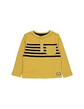 Yellow Waffle Knit Long Sleeve Top by Asda