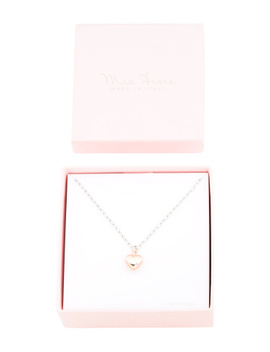 Made In Italy Boxed Sterling Silver Paperclip Heart Necklace by Tj Maxx