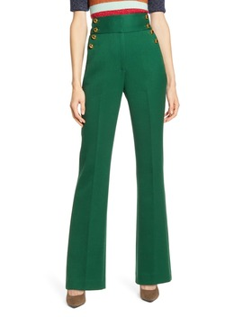 X Atlantic Pacific Button Detail High Waist Flare Pants by Halogen®