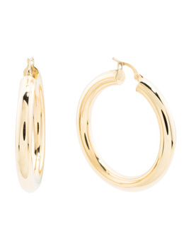 Made In Italy 14k Gold 30mm Hoop Earrings by Tj Maxx