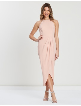 Avery High Neck Drape Dress by Cooper St