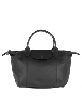 Le Pliage S Leather Black by Longchamp