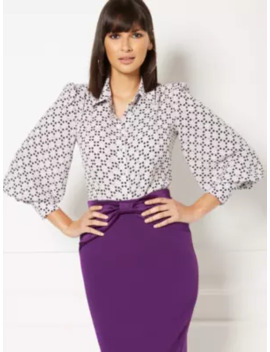 Kelsey Polka Dot Blouse   Eva Mendes Collection by New York & Company