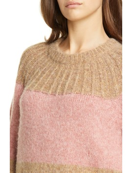 Nirmala Colorblock Wool & Alpaca Crewneck Sweater by Joie