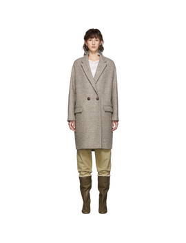 Beige Wool Filipo Coat by Isabel Marant