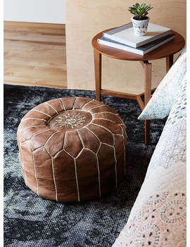 Moroccan Leather Pouf by Simons Maison                             Home Fashion