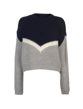 Deluxe Colour Block Knitted Jumper by Soul Cal