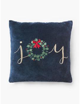 Joy Wreath Pillow by Talbots
