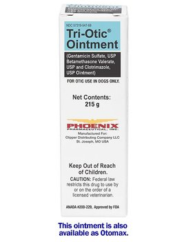 Tri Otic (Gentamicin / Betamethasone / Clotrimazole) Otic Ointment For Dogs by Tri Otic