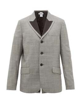 Spark Checked Single Breasted Blazer by Hope