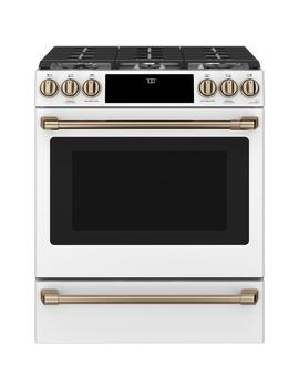 30 In. 5.6 Cu. Ft. Gas Range With Self Clean Oven In Matte White, Fingerprint Resistant by Cafe