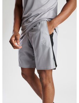 Gk Sport Active Woven Short   Silver Grey by The Gym King