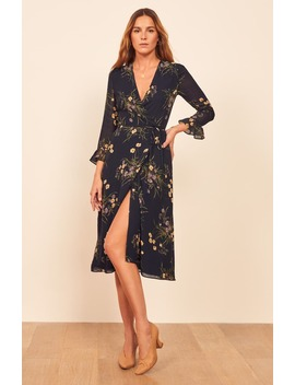 Mulberry Floral Print Wrap Dress by Reformation