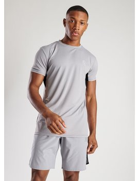 Gk Sport Energy Short Sleeve T Shirt   Silver Grey by The Gym King