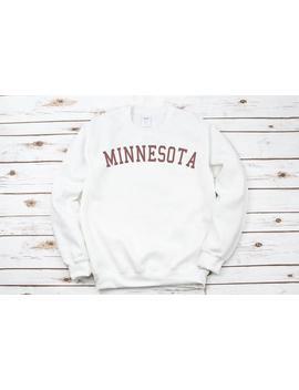 Minnesota Sweatshirt, Minnesota Crewneck Sweatshirt ,Minnesota Sweater ,Vintage Crewneck Sweatshirt ,Gift For Men Or Women by Etsy