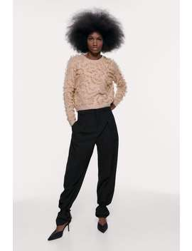 Sweater Com Folhos De Purpurina by Zara