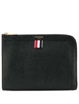 Pebbled Leather Mini Gusset Folio by Thom Browne