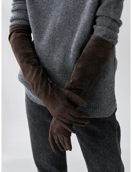 Suede Maxi Gloves by Mardi Mercredi