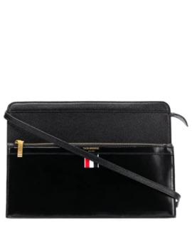 Mix Leather Lady Folio Bag by Thom Browne