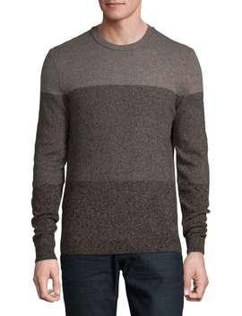 Marled Wool Blend Sweater by Black Brown 1826