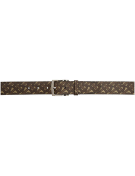 Brown Monogram E Canvas Belt by Burberry