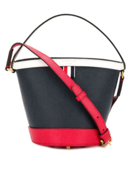 Fun Mix Leather Sand Bucket Bag by Thom Browne
