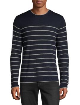 Striped Merino Wool Sweater by Black Brown 1826