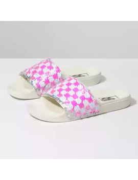 Womens Flipping Sequins Slide On by Vans