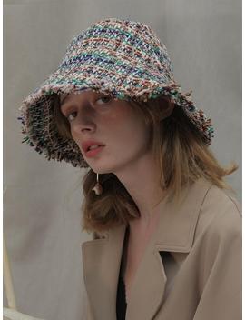 Tweed Bucket Hat Green by Poesiedame