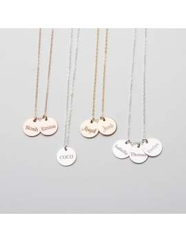 Custom Children's Name Mommy Necklace Grandma Personalized Engraved Mother's Day Christmas Gift  Gold Filled,Rose Sterling Silver Cg359 N 0.5 by Etsy