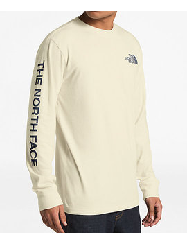 The North Face Sleeve Hit Cream Long Sleeve T Shirt by Zumiez